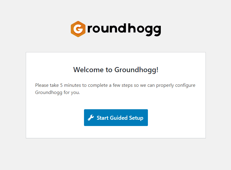 Groundhoog e-mail CRM marketing automatisatie guided setup